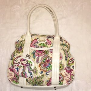 Ladies vera BRADLEY fabric tote bag w/ coin purse